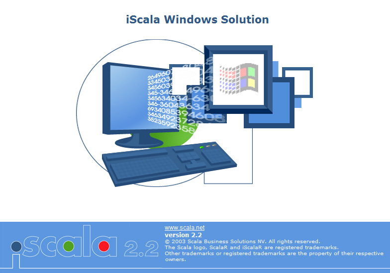 "заставка ""iScala Windows Solution"""