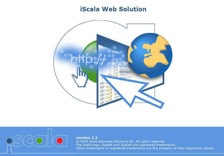 "заставка ""iScala Web Solution"""
