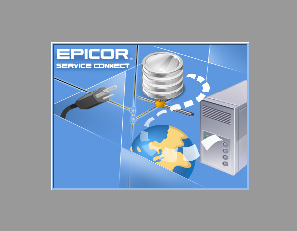 "Заставка к программе ""Epicor Service Connect """